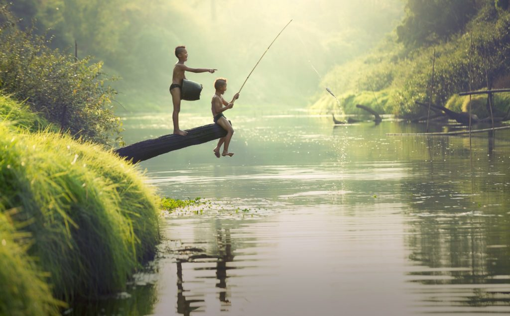 visvakantie met het gezin