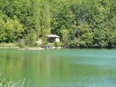 vissen op Camping Les 2 Lacs Frankrijk
