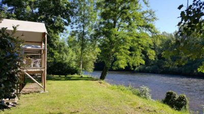 vissen op de Dordogne