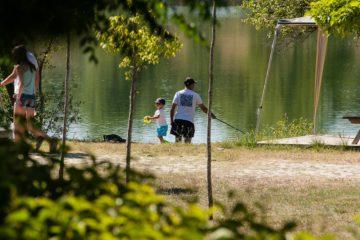vissen op Camping Le Val de Durance
