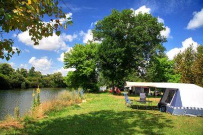 vissen op Camping La Plage Blanche