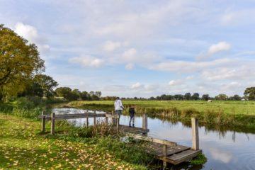 vissen op de Regge vakantiepark Molke