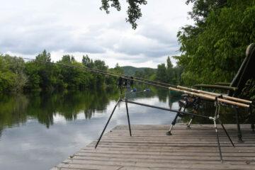 vissen op de Lot La Rive Bleue