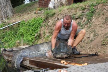 vissen aan de Lot Arnotis